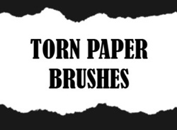 Paper Torn Brushes