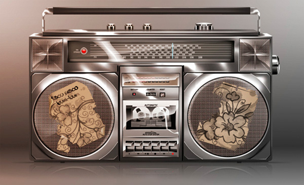 Create a Glossy Boom Box Icon in Photoshop