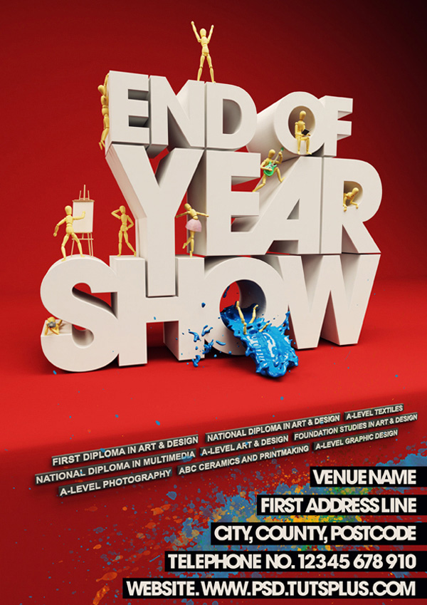 Event Poster with C4D and Photoshop