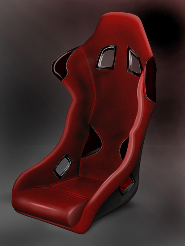 Create a Glossy Sports Car Seat Icon in Photoshop