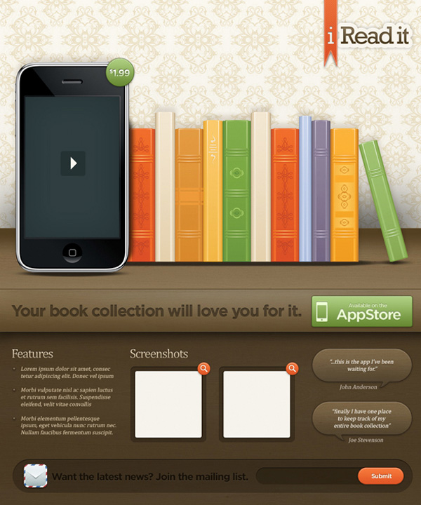 Create an Illustrative iPhone/iPad Landing Page