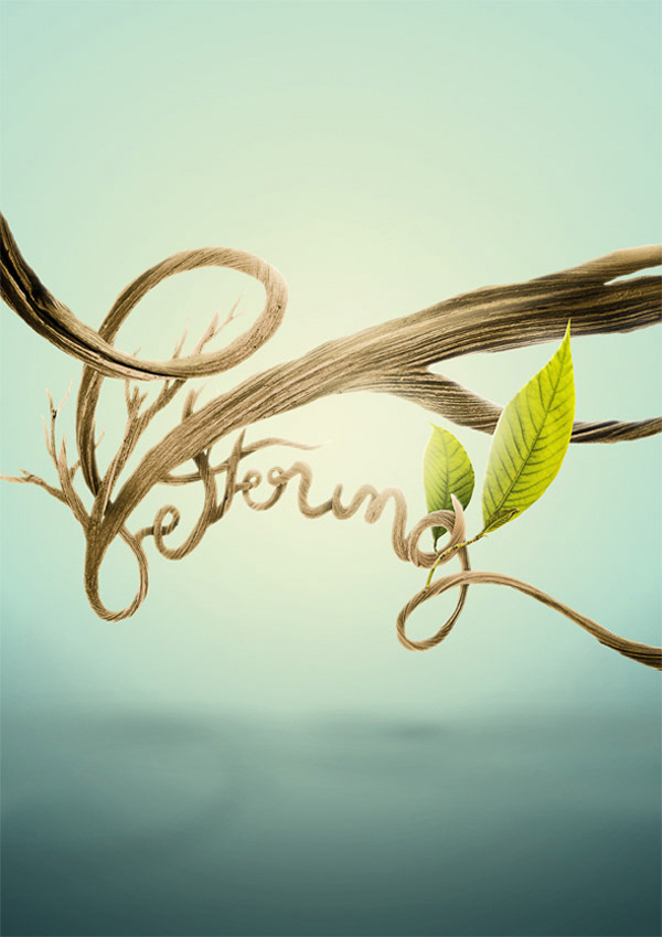 Create Organic Lettering Using Photo Manipulation