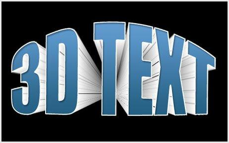 Photoshop  3D Text Effect tutorials