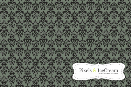 Damask Charcoal Photoshop Pattern