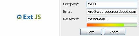 Ext JS Password Meter