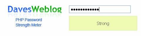 PHP Password Strength Meter