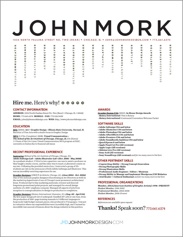 Good Design Resume,Good Resume Examples on Pinterest Best Resume ...