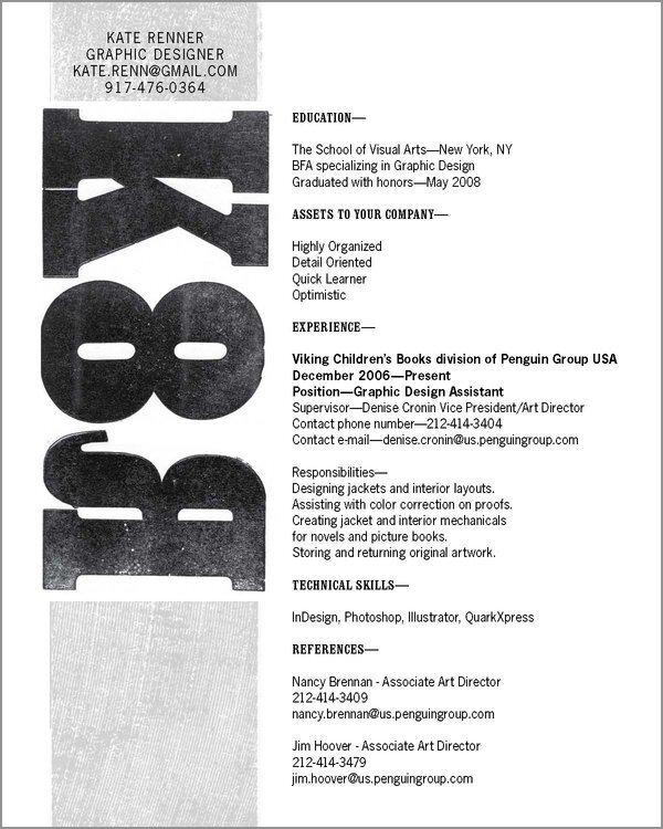 resume design ideas