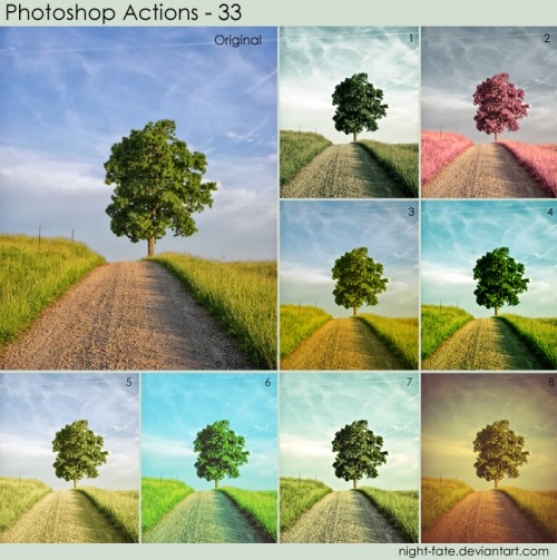 500+ Free Professional Photoshop Actions