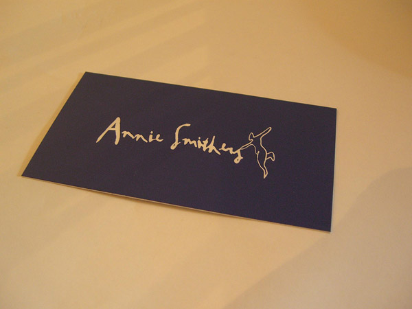 annie 30 Creative Restaurant Business Card