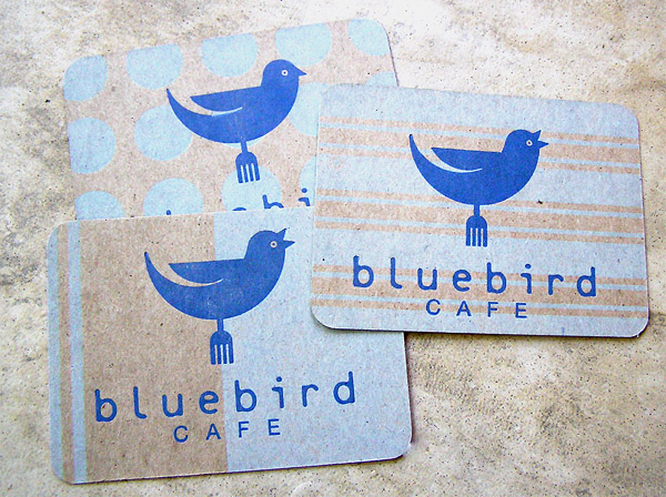 bluebird 30 Creative Restaurant Business Card