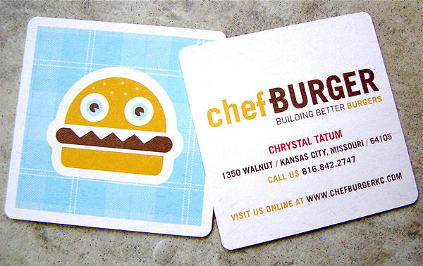 chefburger 30 Creative Restaurant Business Card