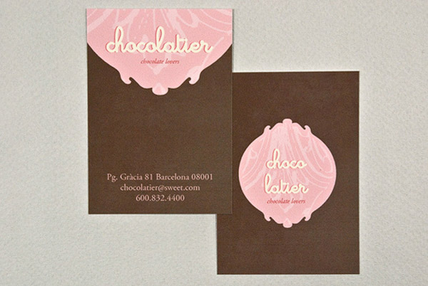 chocolatier 30 Creative Restaurant Business Card
