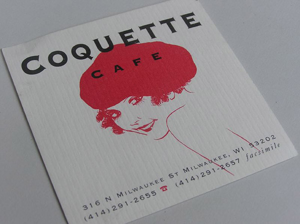 coquette 30 Creative Restaurant Business Card