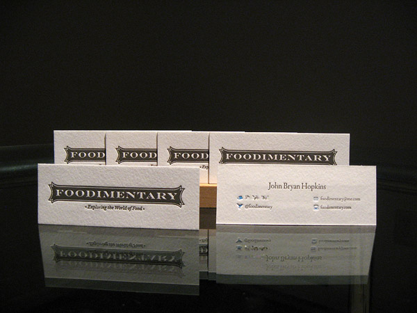 foodimentary 30 Creative Restaurant Business Card