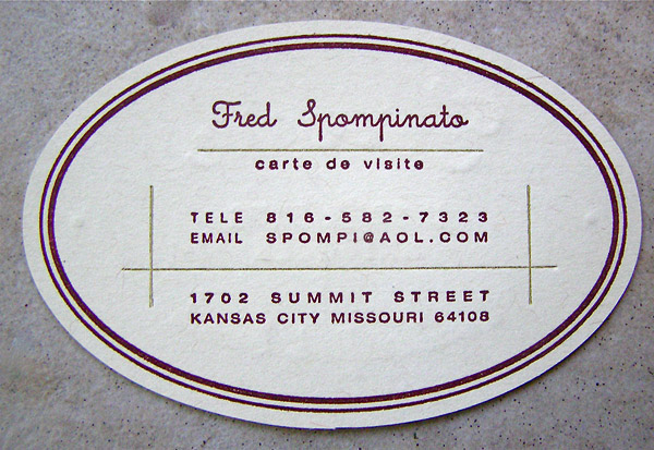 fred spompinato 30 Creative Restaurant Business Card