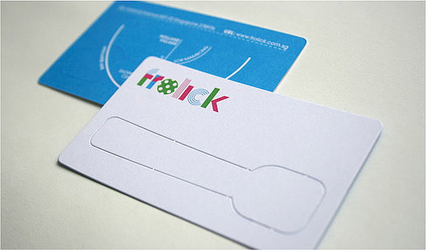 frolick 30 Creative Restaurant Business Card