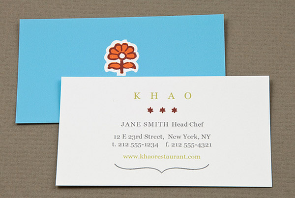 khao 30 Creative Restaurant Business Card