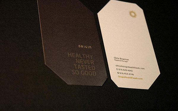 origin 30 Creative Restaurant Business Card