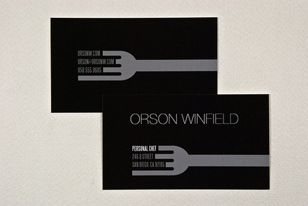 orson 30 Creative Restaurant Business Card
