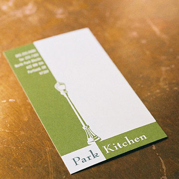 park 30 Creative Restaurant Business Card