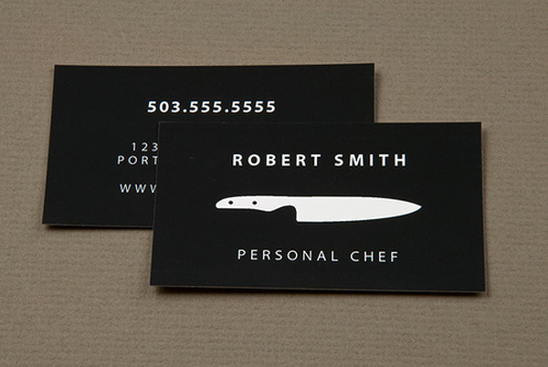 robert 30 Creative Restaurant Business Card