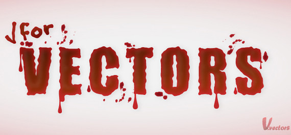 Create a simple blood text
