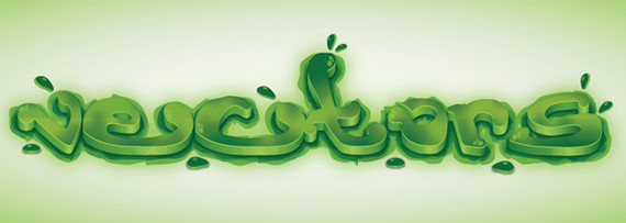 Create a Green Viscous Text Effect