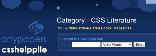 CSS Help Pile - screen shot.