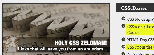 Holy CSS Zeldman! - screen shot.