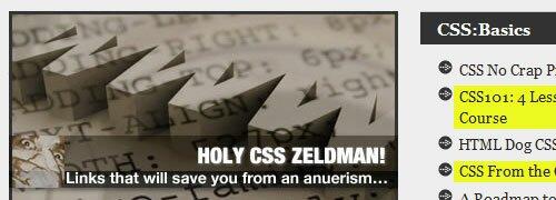 Holy CSS Zeldman! - screen shot.