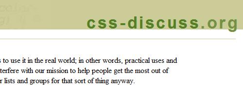 CSS-Discuss - screen shot.