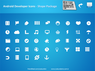 Androids_Icons_Shape_Pack