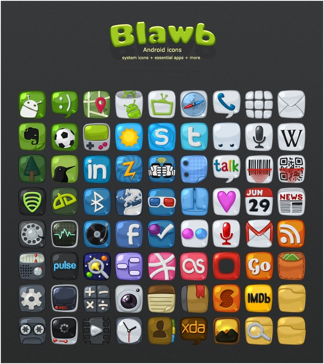 Blawb 400+ Best Android Icons
