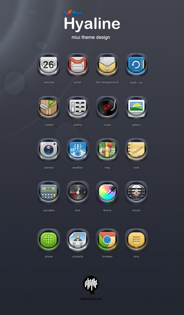 Hyaline 400+ Best Android Icons