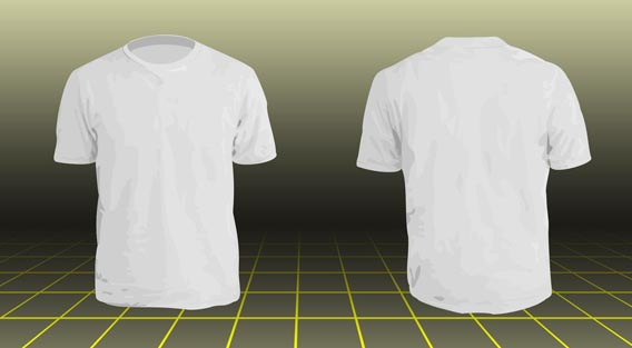Download Free Vector Tshirt model
