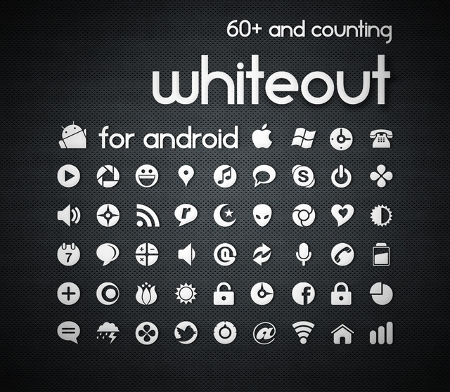 Whiteout 400+ Best Android Icons