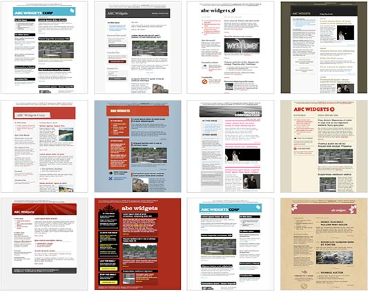 free newsletter layouts