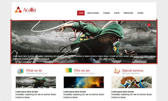 Acallian HTML5 and CSS3 Templates Free 30+ Fresh and Free HTML5 and CSS3 Templates
