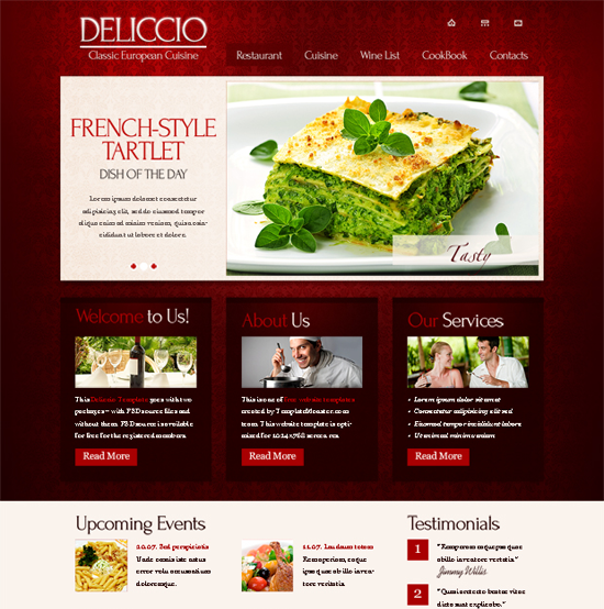 Restaurant 30+ Fresh and Free HTML5 and CSS3 Templates