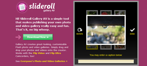 Slideroll Gallery AV 30+ Free Flash Photo Galleries and Tutorials