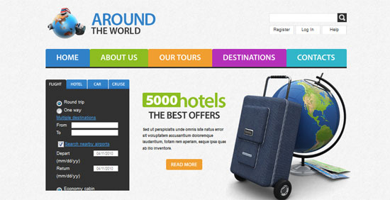 Travel Website Template 30+ Fresh and Free HTML5 and CSS3 Templates