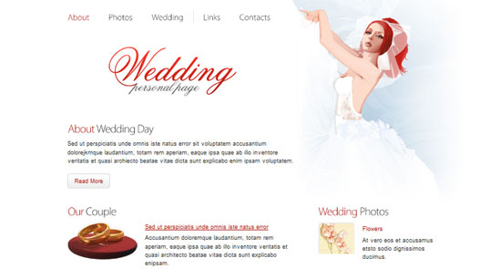 Wedding Website Template 30+ Fresh and Free HTML5 and CSS3 Templates