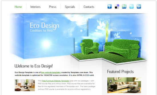 beautifulhtml18 30+ Fresh and Free HTML5 and CSS3 Templates