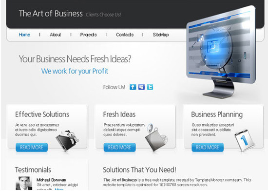beautifulhtml28 30+ Fresh and Free HTML5 and CSS3 Templates