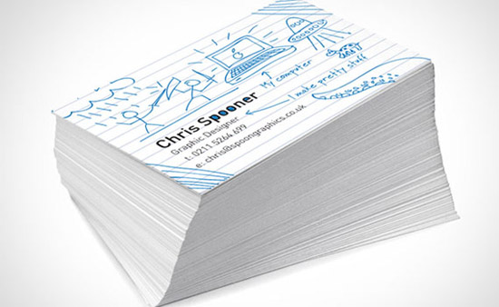 create fun ready doodled business card print design tutorial 35 Great Print Ready Designs Tutorials