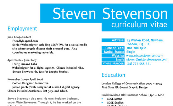 create grid based resume cv layout in indesign print design  35 Great Print Ready Designs Tutorials