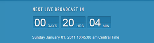 Live Brodcast Countdown Module