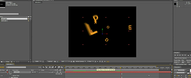 Animated type tutorial 2: text animators and an exploding word!