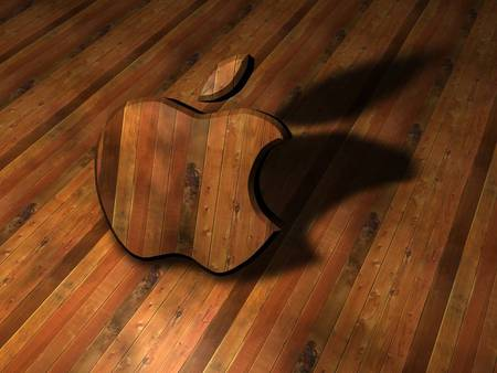 Wooden Apple - apple, mac, wooden